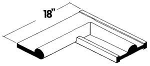 Center Dome Seal 6809 — Transition to Flat Inside Bulb 90⁰ Corner